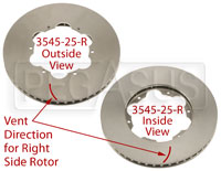 Click for a larger picture of Brake Rotor, DB4/RT4, Directionally Vented
