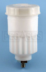 Click for a larger picture of Girling Large Brake Fluid Reservoir, Centered 7/16-20 Outlet