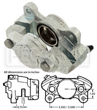"Click for a larger picture of AP Lockheed LD19 Caliper (FF), 1.625"" Pistons, RH or LH"
