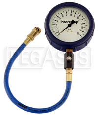 Click for a larger picture of Intercomp 4 inch Glow in Dark Tire Pressure Gauge, 0-15 psi