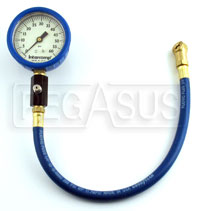 "Click for a larger picture of Intercomp 2.5"" Glow in Dark Tire Pressure Gauge, 0-60 psi"