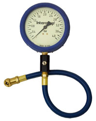 "Click for a larger picture of Intercomp 4"" Glow in Dark Tire Pressure Gauge,  0-4x .10 BAR"