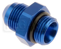 Click for a larger picture of AN920 AN Male to O-Ring Boss Adapter - Straight, Blue