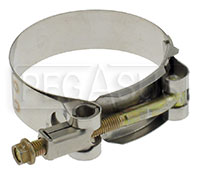 Click for a larger picture of Stainless T-Bolt Clamps for Racing Mufflers and other uses
