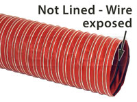 Click for a larger picture of High Temp 1-Ply Silicone Air Duct Hose, 450F, Orange Only