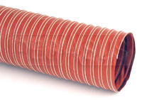 Click for a larger picture of High Temperature Silicone Air Duct Hose, Orange