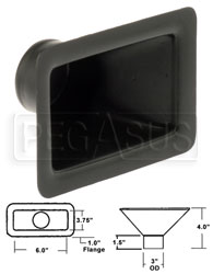 "Click for a larger picture of Air Inlet, Extra-Small Rectangle, 6 x 3.5 inch, for 3"" Hose"