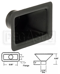 Click for a larger picture of Air Inlet, Extra-Small Rectangle, 6 x 3.5 inch
