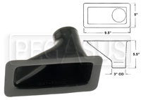 "Click for a larger picture of Air Inlet, Small Bumper Mount (1 Outlet), for 3"" Hose"