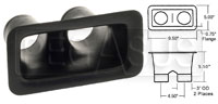 """Click for a larger picture of Air Inlet, Small Bumper Mount (2 Outlet), for 3"""" Hose"""