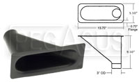 """Click for a larger picture of Air Inlet, Large Bumper Mount (1 Outlet), for 3"""" Hose"""