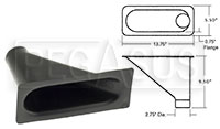 Click for a larger picture of Air Inlet, Large Bumper Mount (1 Outlet)