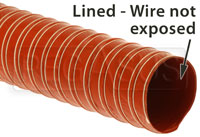 Click for a larger picture of High Temp Silicone 2-ply Air Duct Hose, Scratch & Dent