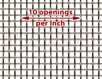 Click for a larger picture of Fine Mesh Stainless, #10 x .025 Wire (10 openings per inch)