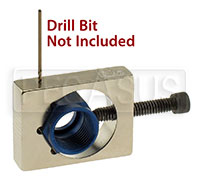 Click for a larger picture of Nut and Bolt Safety Wire Drill Jig