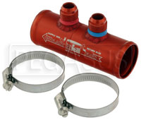 Click for a larger picture of Integrated Remote Check Valve, 10AN Male Fittings - ON SALE!