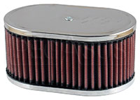 Click for a larger picture of K&N Air Filter, Porsche 912: Solex 40 P11 DDO 5.5 x 9 x 3.25