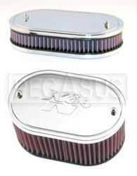 Click for a larger picture of K&N Air Filter, Weber 32/36 DGV, DGAV, DGEV, - 4.5 x 7 Oval