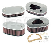 Click for a larger picture of K&N Air Filter, Weber 32/36 DGV, DGAV, DGEV, - 5.5 x 9 Oval