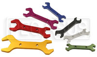 Click for a larger picture of 7 Piece Aluminum AN Combo Wrench Set, Sizes 4-3 Thru 20-16