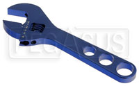 Click for a larger picture of Aluminum 9 inch Adjustable AN Wrench, Adjusts from 3 to 20AN