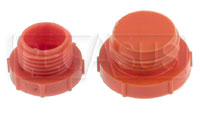 Click for a larger picture of BSP Plastic Flare Plug (threaded, not push-on type)