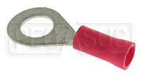 "Click for a larger picture of Terminal, 22-18 Gauge Red  1/4""  Ring"