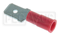 Click for a larger picture of Terminal, 22-18 Gauge Red  Male Push-On