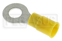"Click for a larger picture of Terminal, 12-10 Gauge Yellow - 1/4""  Ring"