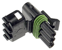 Click for a larger picture of Weather Pack 3-Pin Tower Connector Body