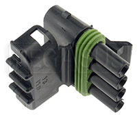 Click for a larger picture of Weather Pack 4-Pin Tower Connector Body