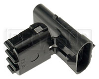 Click for a larger picture of Weather Pack 3-Pin Shroud Connector Body