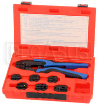 Click for a larger picture of Quick Change Ratcheting Terminal Crimping Kit