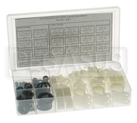 Click for a larger picture of 131 Piece Hole Bushing & Cable Clamp Assortment