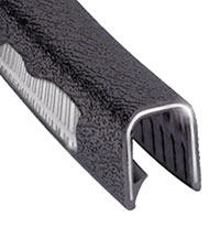 Click for a larger picture of Heavy Duty Flexible Edge Trim, Black - per foot