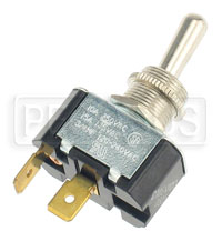 Click for a larger picture of Toggle Switch, SPST Momentary On, Push-On Terminals