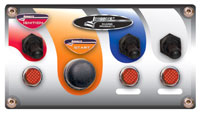 Click for a larger picture of Switch Panel w/Start Button, 2 Acc Switches, Boots & Lites
