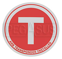 Click for a larger picture of Transponder Location Decal, 3.75 inch diameter