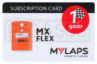 Click for a larger picture of MyLaps Subscription Card for MX / Motocross X2, 1 Year
