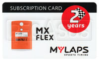 Click for a larger picture of MyLaps Subscription Card for MX / Motocross X2, 2 Year