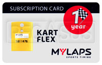 Click for a larger picture of MyLaps Subscription Card for Kart / Karting X2, 1 Year
