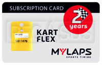 Click for a larger picture of MyLaps Subscription Card for Kart / Karting X2, 2 Year