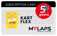 Click for a larger picture of MyLaps Subscription Card for Kart / Karting X2, 5 Year