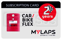 Click for a larger picture of MyLaps Subscription Card for Car / Motorcycle X2, 2 Year