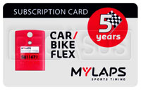 Click for a larger picture of MyLaps Subscription Card for Car / Motorcycle X2, 5 Year