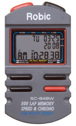 Click for a larger picture of Robic SC-848W Hand Held Timer, 300 Lap Memory