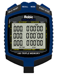 Click for a larger picture of Robic SC-899 Triple Timer Speed and Countdown Stopwatch