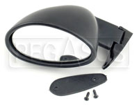 Click for a larger picture of Vitaloni Californian Mirror, Flat Lens, Black - Left Side