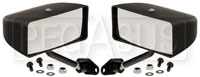 Click for a larger picture of Club Series Rectangular Convex Lens Mirrors, Nylon, Pair