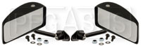 Click for a larger picture of Club GT Series Flat Lens Mirrors, Nylon, Pair